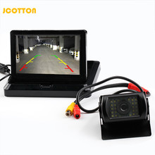 Foldable TFT LCD Car Monitor 5 Inch Car Parking Sensor with Waterproof Rear View Camera Wind Angle for Truck Bus