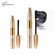 2pcs/lot 3D Eyelash Fiber Black Silk Mascara Makeup Set Waterproof Eyelash Extension Lengthening Volume Express Rimel Mascara(China)