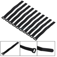 10X 30*2cm Strong For RC Battery Tie Down Strap Reusable Antiskid Cable Straps Black