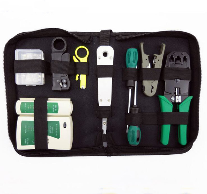 10 in 1 network tool set crimping pliers wire stripping tool network diagnostic toolkit Network crimping pliers<br>