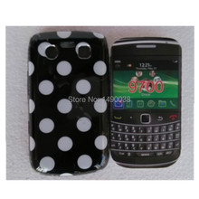 Hot Sale Cute Lovely TPU Polka Dots Style Back Skin Cover Case for Blackberry BB 9700 Soft Phone Case Free(China)