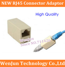 Free shipping RJ45 Connector Adaptor CAT5 Network Ethernet Modular jack Extension socket adapter(China)