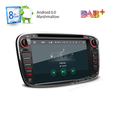 Octa Core 32G ROM 2G RAM Android 6 Car Stereo GPS Fit Ford Focus Mondeo Tourneo Transit S-Max Galaxy 4K Video 4G TPMS DAB+ Radio