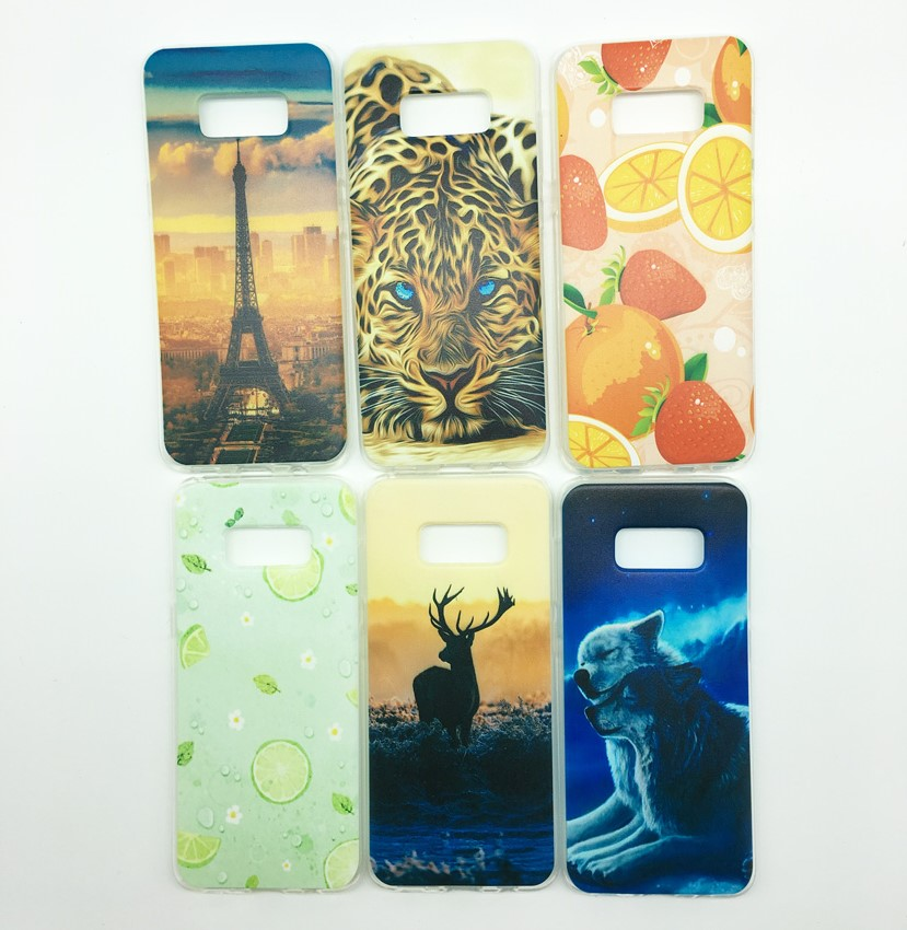 Plating Cartoon Pattern TPU soft Phone Case Cover for Samsung A3 A5 A7 2017 J730 J530 J330 J5 J7 Prime G530 Note8 S8 S7 S6 edge