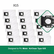 15X Fit Miele Part # 05588951. Designed  to replace Miele AirClean KK Vacuum Dust Bags&filters