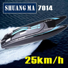 Free shipping Double Horse DH7014 2.4G high-speed 25km/h rc boat toys Speedboats shuangma model Electric remote control children