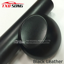 Premium quality Black leather vinyl film Black leather pattern pvc film for car interior decoration with air free bubbles(China)