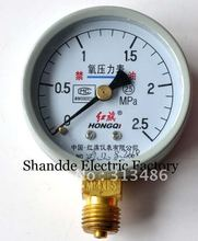 Dial diameter: 60mm 0-2.5Mpa Oxygen Pressure Gauges(China)
