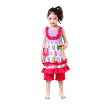 2017 Hot Fashion Baby Clothing Set Summer Girls Clothing Spring Toddler Clothes Festival's Birthday Gift Boutique Fall Outfit