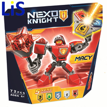 Lis BELA10585 10586 10587 10588 10589 Nexus Knights Building Blocks set Macy Aaron AXL Lance Clay Battle Suit bricks toys lepin - Lucky bags home store
