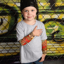 Boy Clothes Cotton T-shirt Long Sleeve Children Tee Shirts Novelty Tattoo Sleeve Baby Boys Tops Spring&autumn Kids Clothing