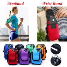 For Samsung Galaxy S8/Plus J3/J5/J7/A3/A5/A7 2017/2016 Accessories Running Armband Wrist Hand Sport Fitness Bag Pouch Phone Case(China)