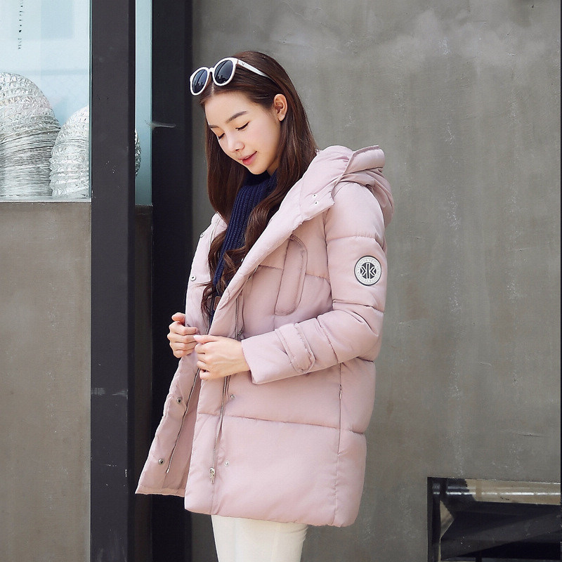 Korean Hot 2017 Winter Casual Women Down Coat Slim Thick Hooded Outwear Cotton Padded Warm Parka Female Medium-Long Jacket P912Одежда и ак�е��уары<br><br><br>Aliexpress