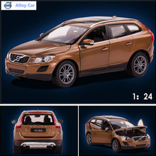 1:24 alloy car, high simulation car model Volvo XC60, metal diecasts, coasting, the children's toy vehicles, free shipping