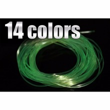 14 Colors 0.8 MM Fly Tying Rib Round Larvae Nymph Ribbing Clear Stretch Body Fly Tying Line Thread Materials(China)