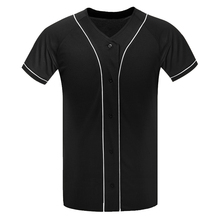Hip Pop T Shirt Street wear Baseball Jersey T-Shirt Button Team Uniform Raglan Fashion Plain Tee Plus Size XL-XXL ME0278