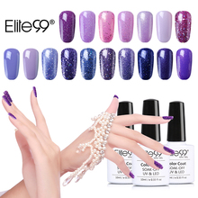 Elite99 10ML Soak Off UV Gel Nail Polish Gorgeous Purple Colors Gel Lak Vernis Semi Permanent Gel Varnishes Nail Glue Gelpolish
