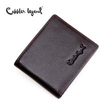Cobbler Legend Brand Designer 2016 Real Leather Slim Men's Wallet Cow Leather Men Bifold Clutch Wallets Male Fashion Coin Purses(China)