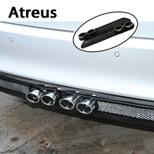 Atreus2X Car styling 3D Cool Auto carbon Exhaust Stickers For Chevrolet Cruze Jeep Renegade Wrangler Peugeot 307 206 308 407 207(China)