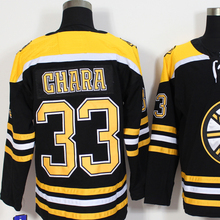 Mens #33 Zdeno Chara Blue Gold White Black Home 100% Embroidery Hockey Jerseys High Quality free shipping(China)