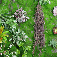 Festive  Party Supplies Garland Plants Wild strains Coffee Green Artificial Leaf Fake Foliage Flowers Hanging Decor Green MA2316