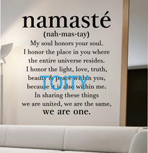 namaste definition quote Wall Decal namaste Vinyl Sticker Art Decor Bedroom Design Mural Yoga decor room decor trendy modern