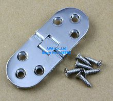 4 Flip Hinge Folding Table Hinge Round Hinge 80x30mm with Screws
