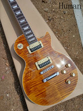 Human Custom Shop slash guitar tiger striped maple cover signature issued lp standard electric guitar one piece neck and body