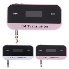New 3.5mm Mini Wireless Music To Car Radio FM Transmitter LCD Display Car Kit Transmitter For MP3 Phones Tablets