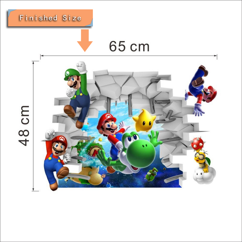 HTB1AhObRpXXXXc1XpXXq6xXFXXXA Super Mario Bros Kids Removable Wall Sticker Decals Nursery Home Decor Vinyl Mural for Boy Bedroom Living Room Mural Art