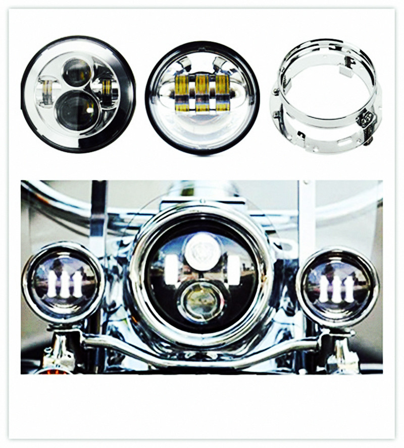 Motorcycle 7 inch Harley Daymaker LED Headlight &amp; 4.5 inch Passing fog Lamps &amp; Adapter Ring for Harley Davidso-n Motorcycles<br><br>Aliexpress