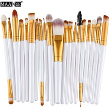 20Pcs 17 Color Eye Makeup Brushes Set Eyeshadow Foundation Eyeliner Eyebrow Lip Contour Beauty Blending Cosmetic Brush Maquiagem