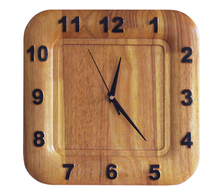 Wooden modern brief square wall clock mute clock exquisite solid wood quartz clock and watch