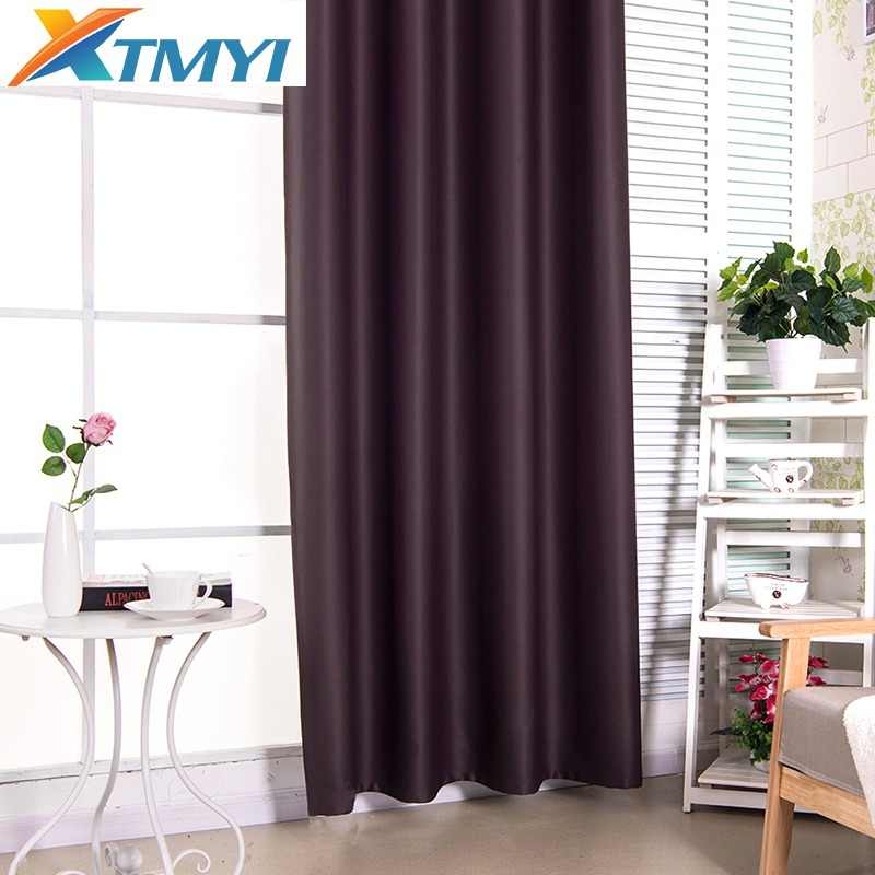 Solid Window Blackout Curtains for Bedroom girls pink/ purple/gray shading curtains for living room Decorative Drapes
