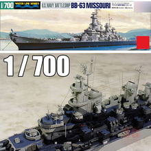 NEW 1/700 Scale us navy battleship BB-63 USS Missouri Ship Model Kit Ship Toy(China)