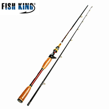 Fish King 2.1m Super hard Fishing Casting Rod 2 Section Carbon Fiber Lure Weight 10-25g Fishing Rod Pole Delicated Cork Handle(China)