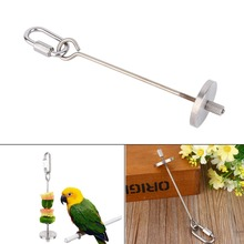 Pet Bird Small Animal Stainless Steel Skewer Fruit Spear Holder Parrot Budgie Suitable For Parakeet Cockatiel Budgie(China)