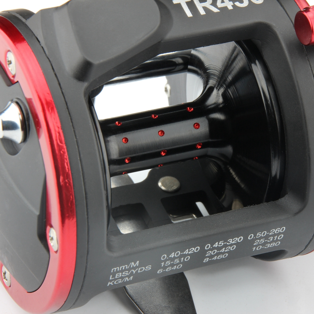 RoseWood Fishing Trolling Reel TR430 With Counter Line Device Drum Fishing reel Vessel Trolling Boat Baitcast Right Hand Wheel (6)