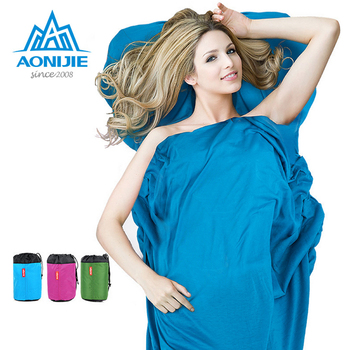 AONIJIE Portable Folding Ultralight  Single envelop style Sleeping Bags Liner Outdoor Camping Hiking Travel Laybags Accessories