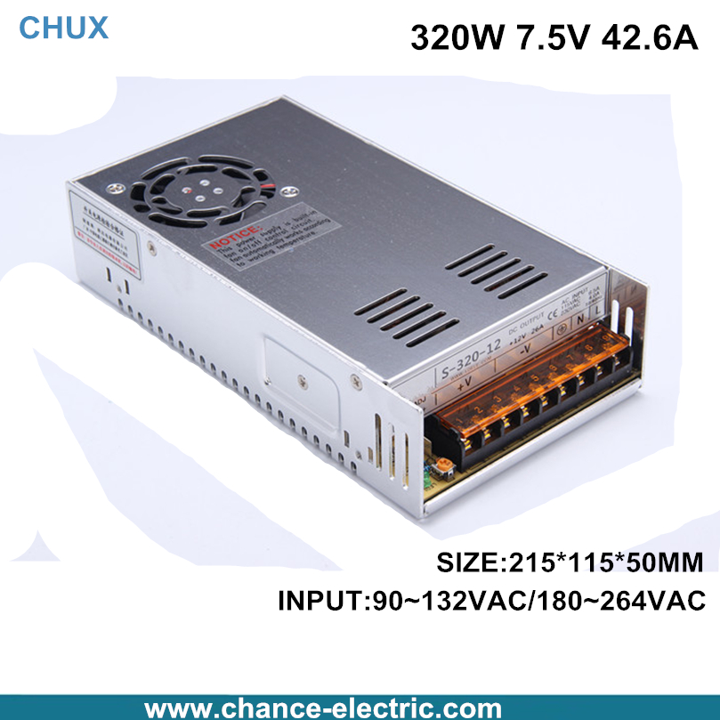 Switching Power Supply single output S series 320W 7.5V for the electronic field Made in China Factory direct sale(s-320-7.5v)<br>