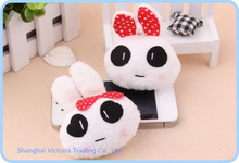 Mini Pepper Rabbit 4*3CM Plush Stuffed TOY DOLL ; Cell Phone Charm Strap Lanyard Pendant  ; BAG Key Chain