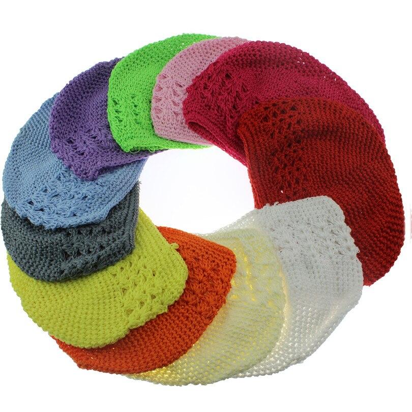 14 colours New  high quality baby Crochet Cap Skullies Kufi Hats Toddler Infant Girl Beanies Knitted Hat baby accessoriesÎäåæäà è àêñåññóàðû<br><br><br>Aliexpress