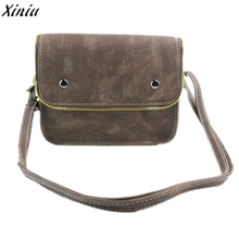 2016 Hot Sale Handbacks For Womens Bag Clutch Female Vintage Zipper Handbag Messenger Saddle Shoulder Bag Ladies Fashion Bolsa(China)