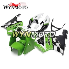 Complete Fairings For Kawasaki ZX7R 1996-2003 96-03 97 98 99 Year ABS Plastics Motorcycle Cover Bodywork Green White Hull Frame(China)