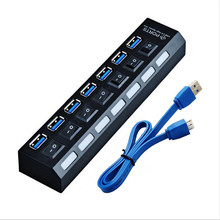 NEW USB HUB 3.0 Super Speed 5Gbps 4 / 7 Ports USB 3.0 HUB USB Splitter With On/Off Switch Platooninsert For Computer Peripherals