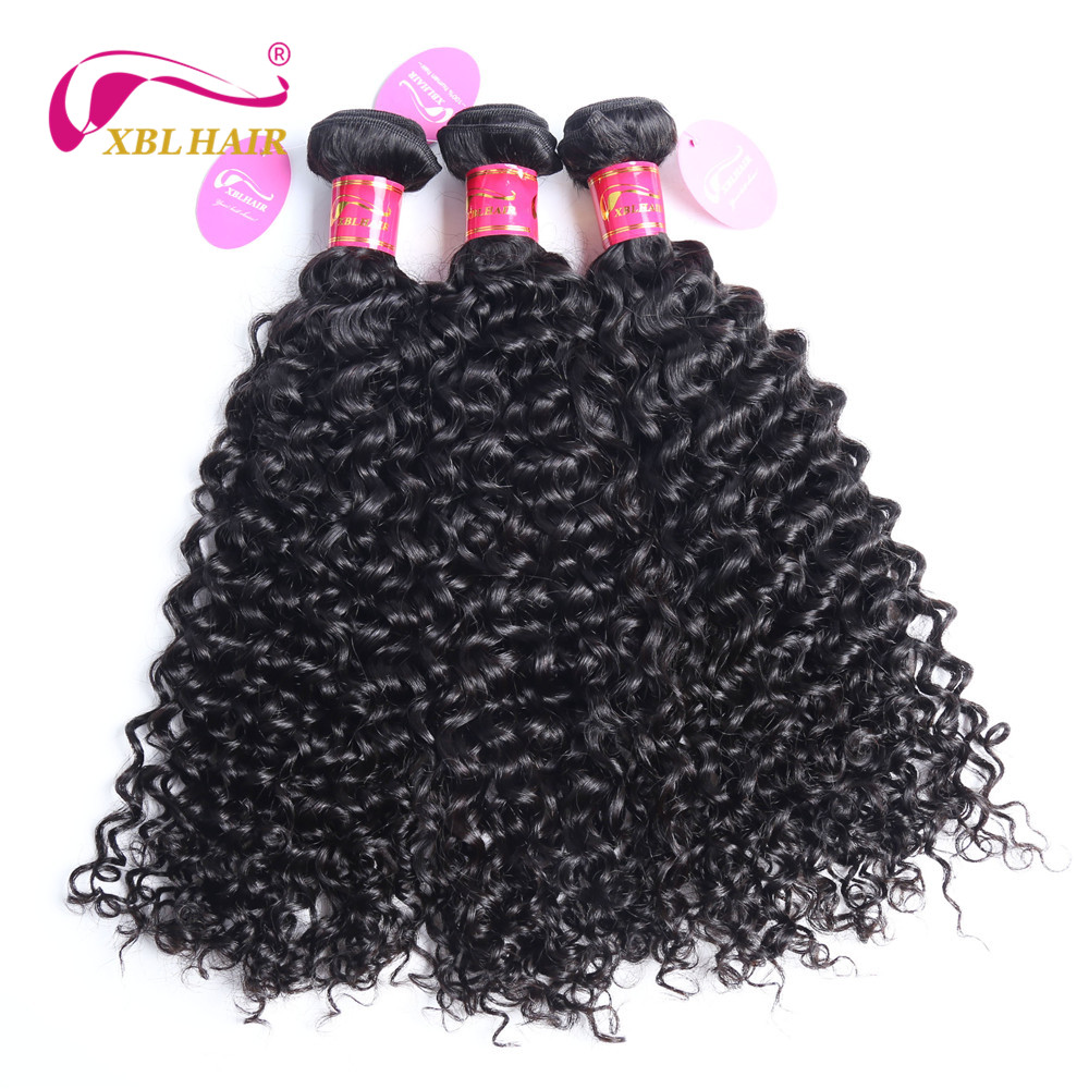 XBL HAIR Peruvian Hair Curly Weave Bundles 1 PC 100% Human Hair Extensions Natural Color Remy 8-28″ Can Be Dyed Free Shipping