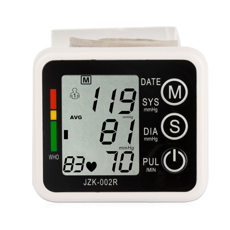 Wrist Blood Pressure Monitor Automatic Digital Meter Cuff Blood Pressure Measurement Health Household Tonometer Sphygmomanometer 12