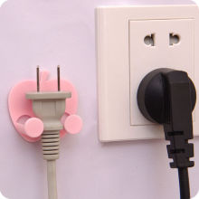 2PC Apple Power Plug Socket Hook Holder Bag Hanger Home Wall Decal Organizer NEW