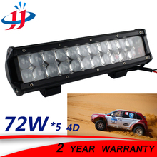 5*72W 4D led light bar high power 4x4 off road dune buggy vehicles truck trailer tractor led light bar super bright boat 12V