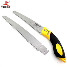 RDEER Folding Saw Cutting Edges SK5 Three Surface Grinding Double Screw Hacksaw Blade Hand Saws for Cutting Tools